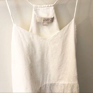 LOFT Tops - {LOFT} Delicate Floral Embroidered Tank